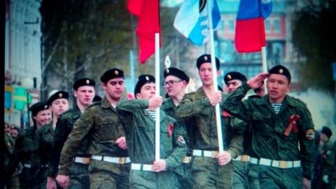 Участие в параде, посвященному 72-летию Победы в Великой Отечественной войне.